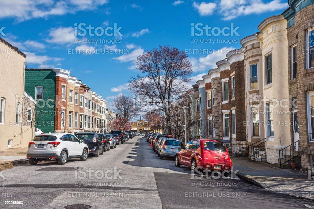 Hampden Row Homes stock photo