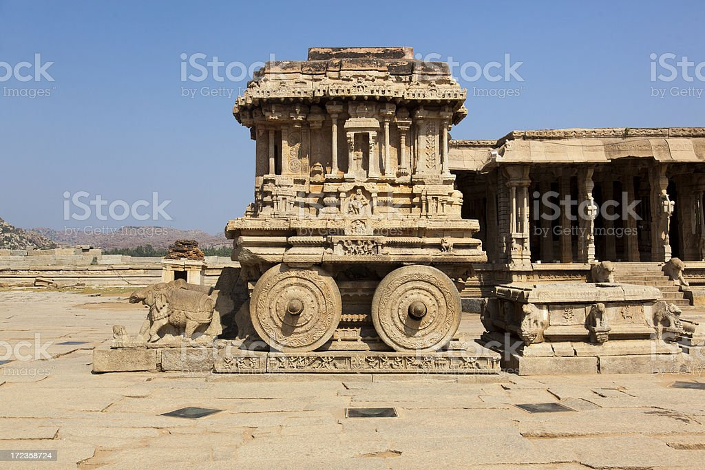 Hampi - Stone chariot royalty-free stock photo