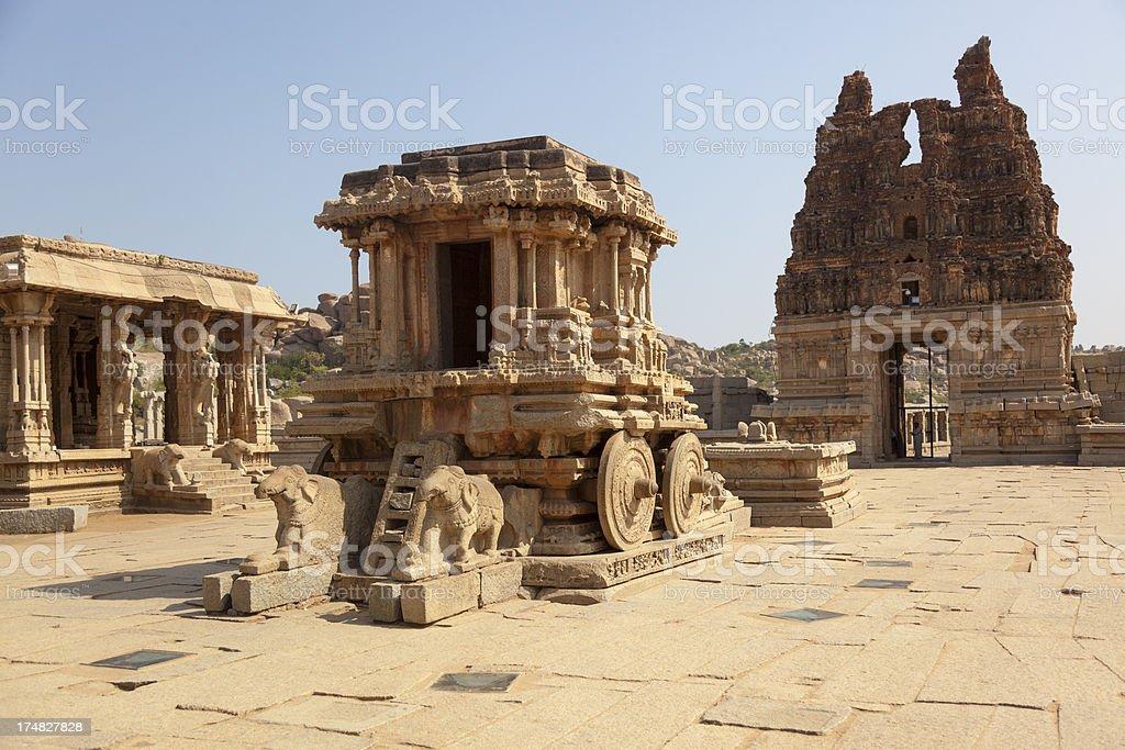 Hampi - Stone chariot stock photo