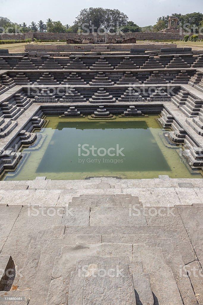 Hampi - Water bath royalty-free stock photo