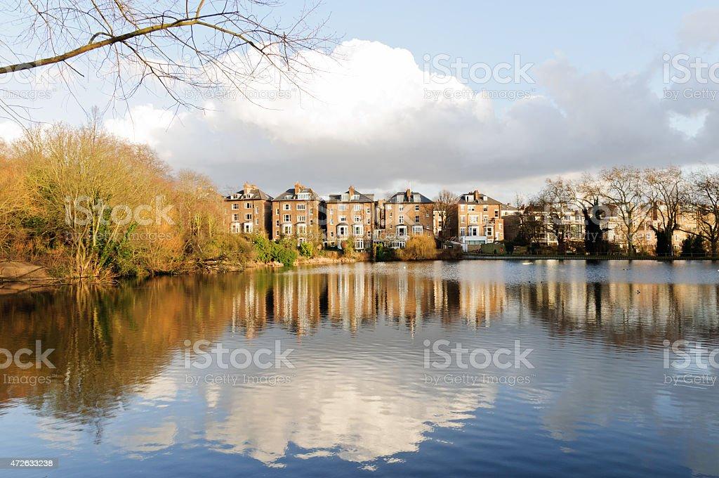 Hampstead Heath park stock photo