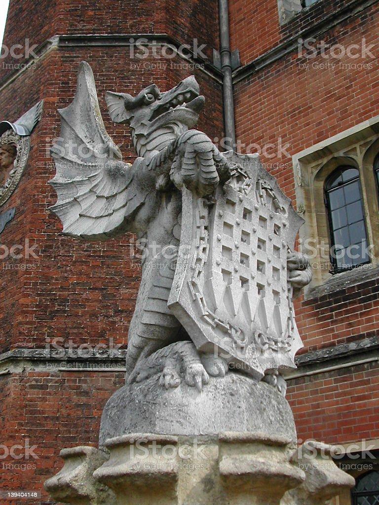 Hampton Court Dragon stock photo