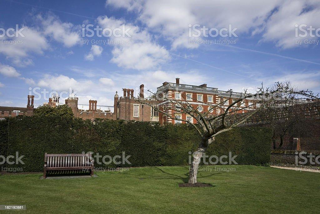 Hampton Court Garden stock photo
