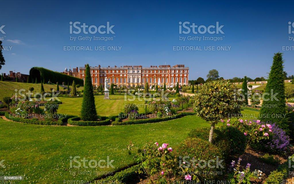 Hampton Court Gardens stock photo