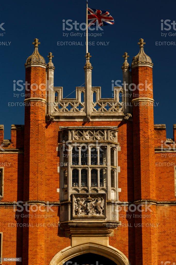 Hampton Court Palace facade stock photo