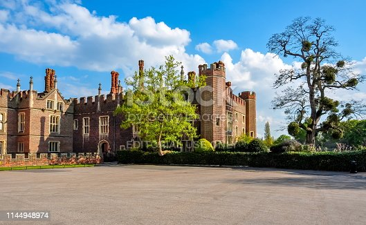 London, UK - April 2018: Hampton court palace in Richmond