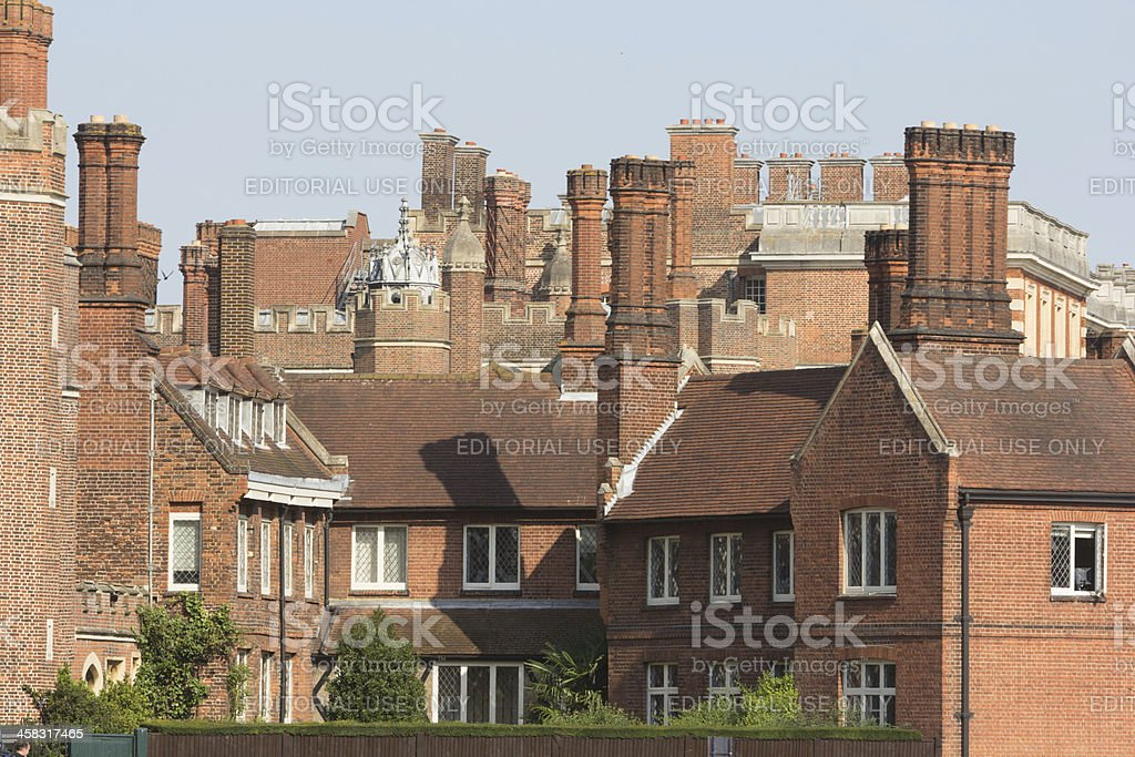 Hampton Court Palace in Richmond-upon-Thames, London stock photo