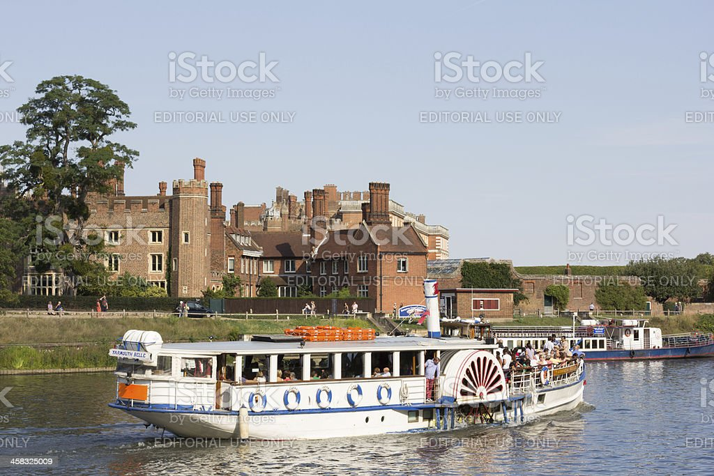 Hampton Court Palace in Richmond-upon-Thames stock photo