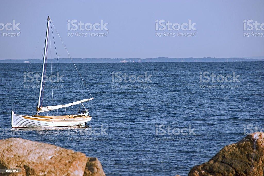 Hampton's Sail Boat stock photo