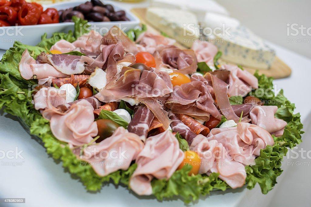Hams salad stock photo