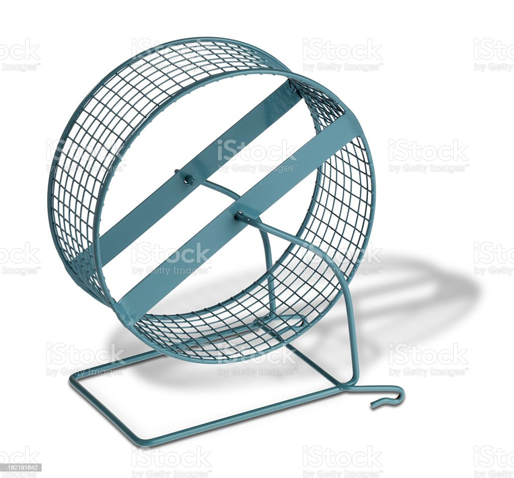 Hamster treadmill stock photo