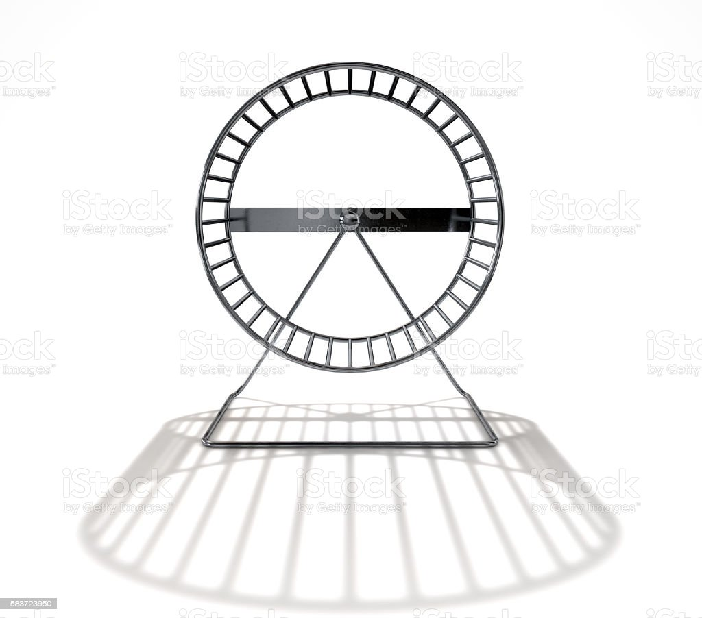 Hamster Wheel Empty stock photo