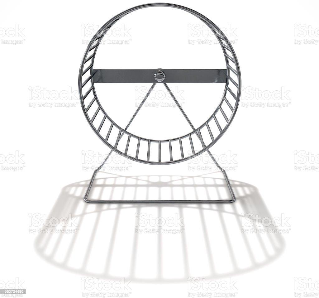 Hamster Wheel Empty stock photo