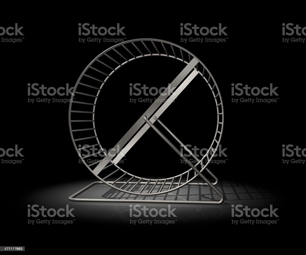 Hamster Wheel on black stock photo