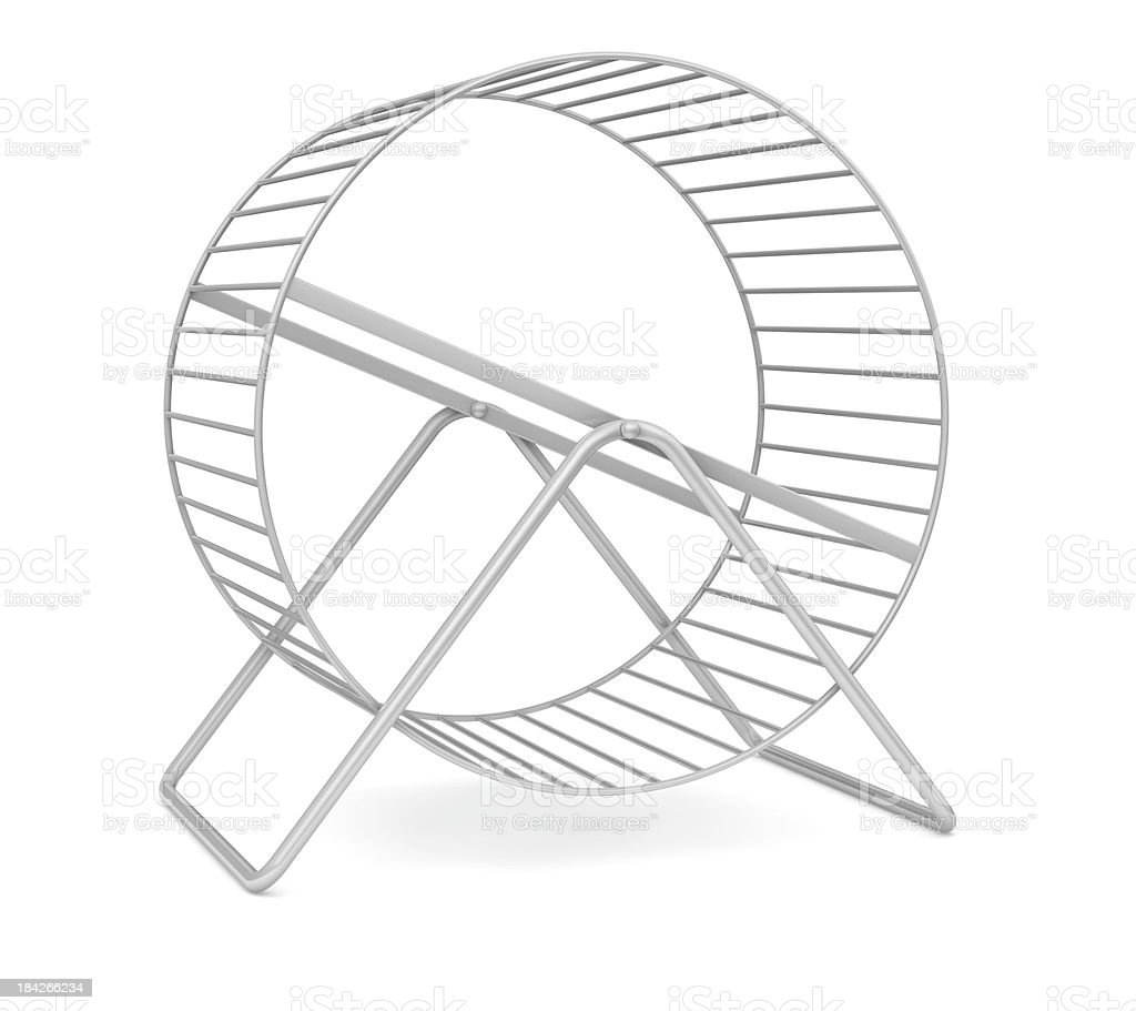 Hamster wheel stock photo