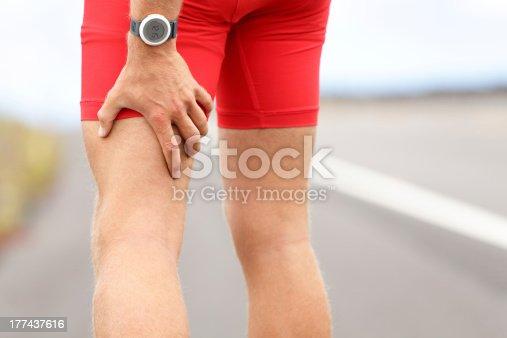 istock Hamstring sprain or cramps 177437616