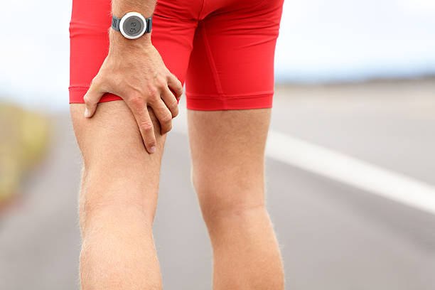 Hamstring sprain or cramps Hamstring sprain or cramps. Running sports injury with male triathlete runner. Click for more: hamstring stock pictures, royalty-free photos & images