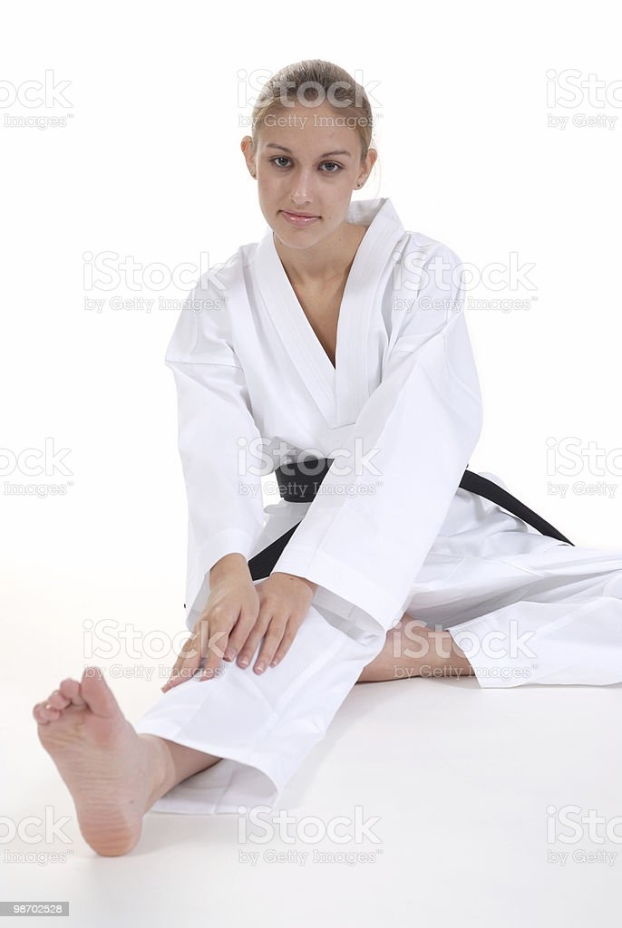 Hamstring warmup royalty-free stock photo