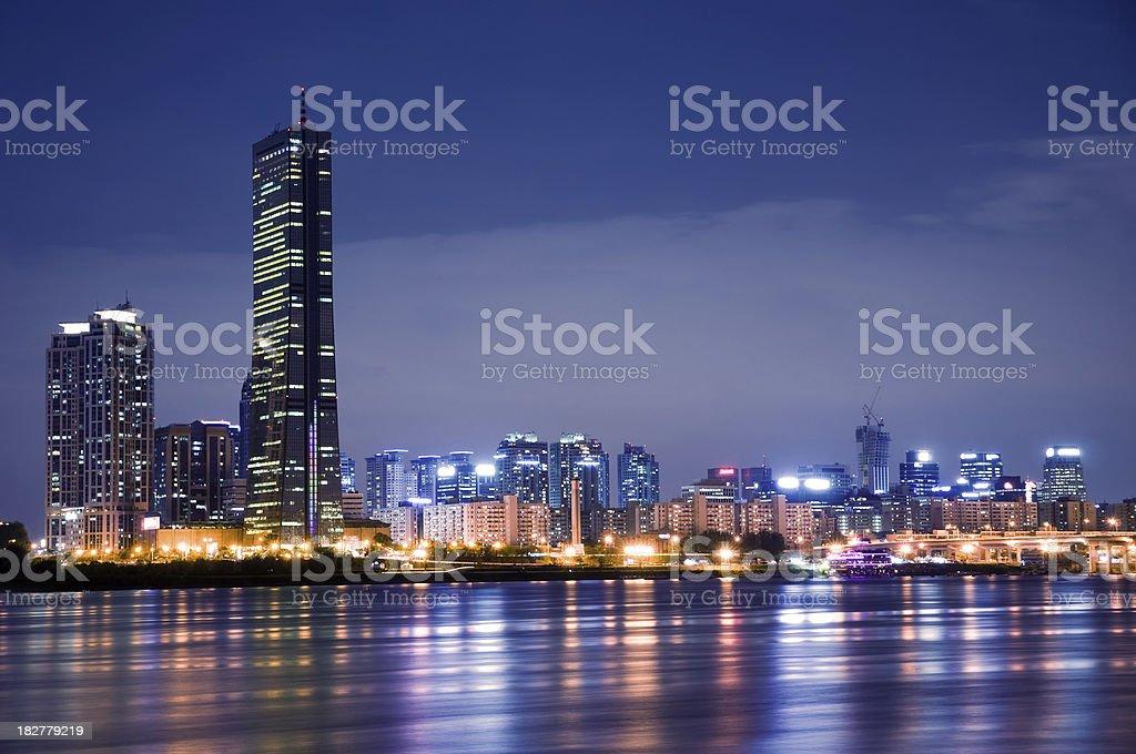 Han River at Night stock photo