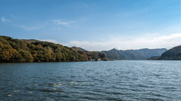 Han River in South Korea stock photo