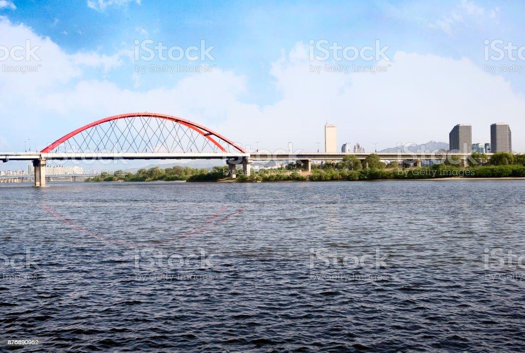 han river stock photo