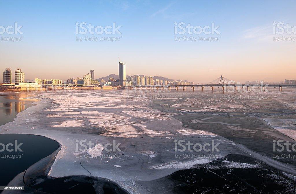 Han river Seoul,Korea stock photo