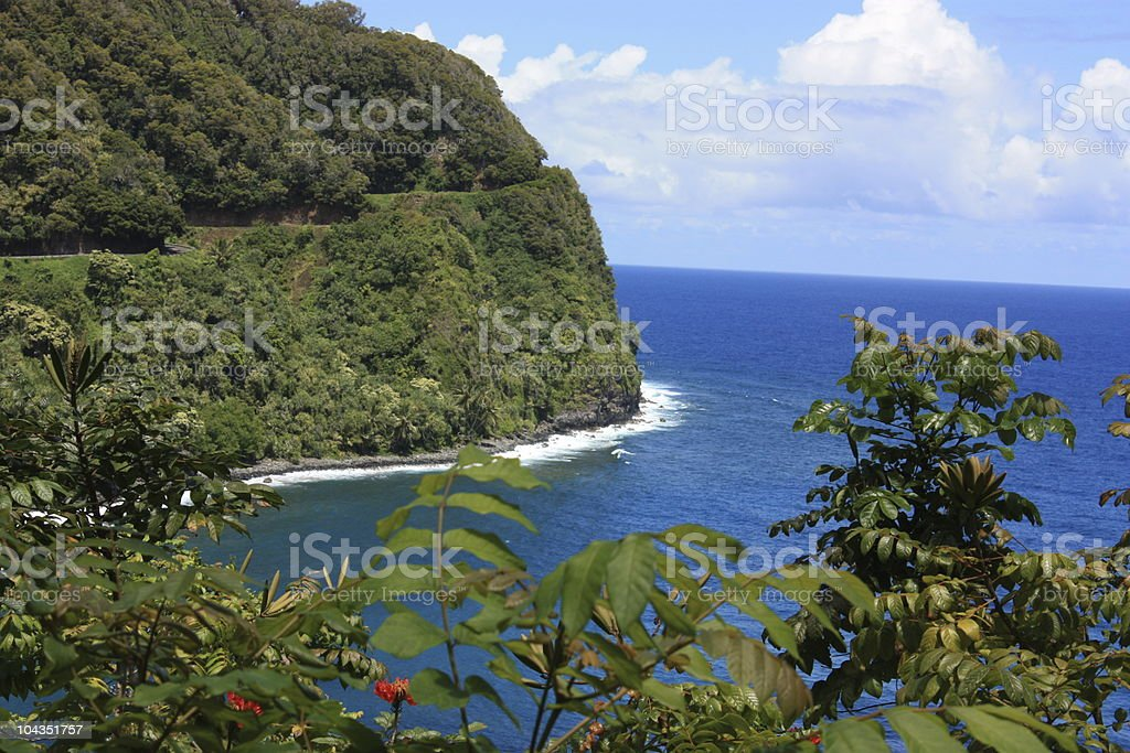 Hana Highway royalty-free stock photo