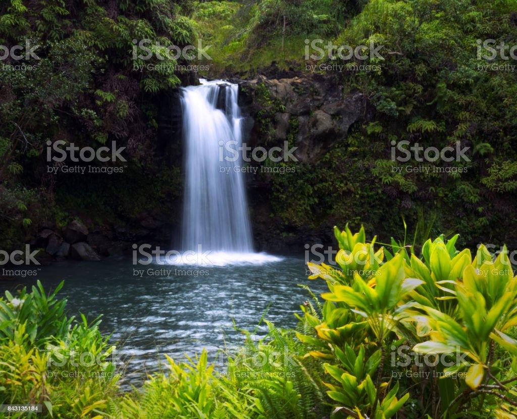 Hana Waterfall stock photo