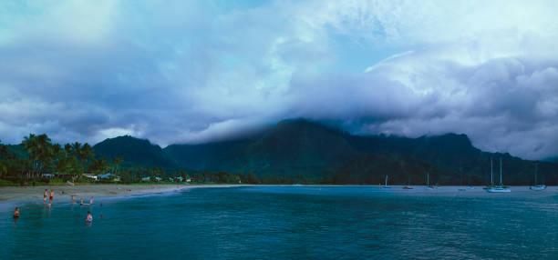 Hanalei Bay stock photo