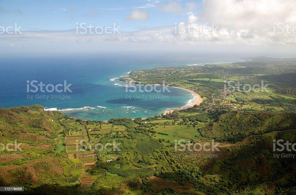 Hanalei Bay royalty-free stock photo