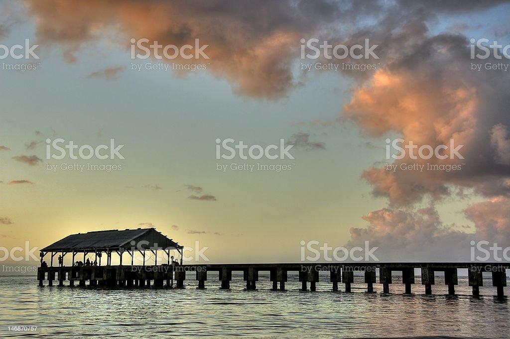 Hanalei Beach in Kauai.HDR. royalty-free stock photo