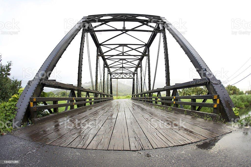 Hanalei Bridge stock photo