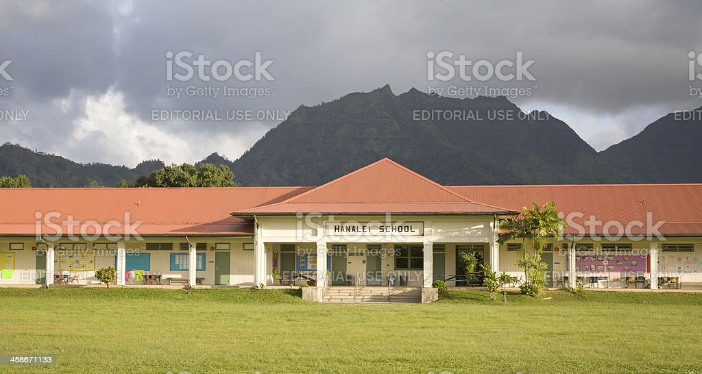 Hanalei School Kauai stock photo