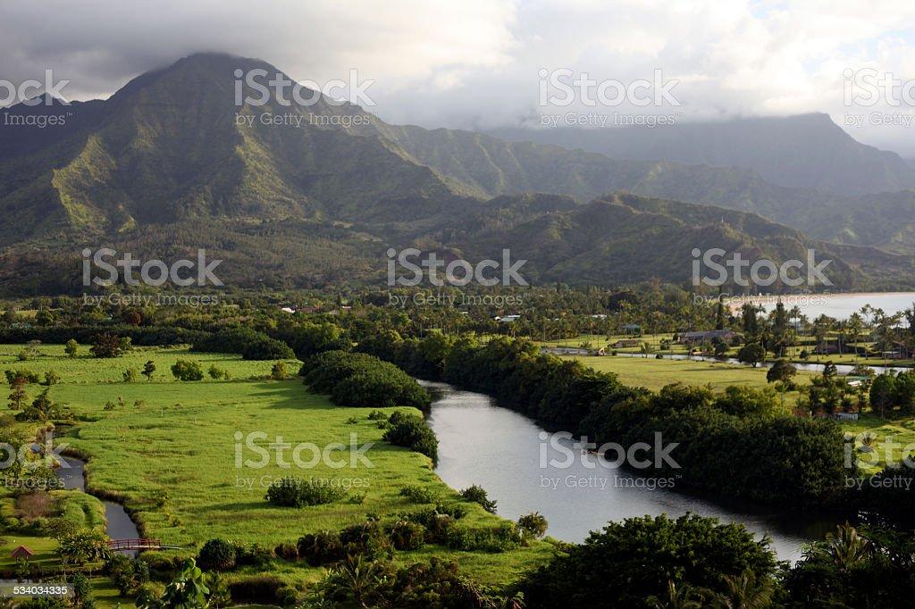 Hanalei Valley, Kauai, Hawaii stock photo