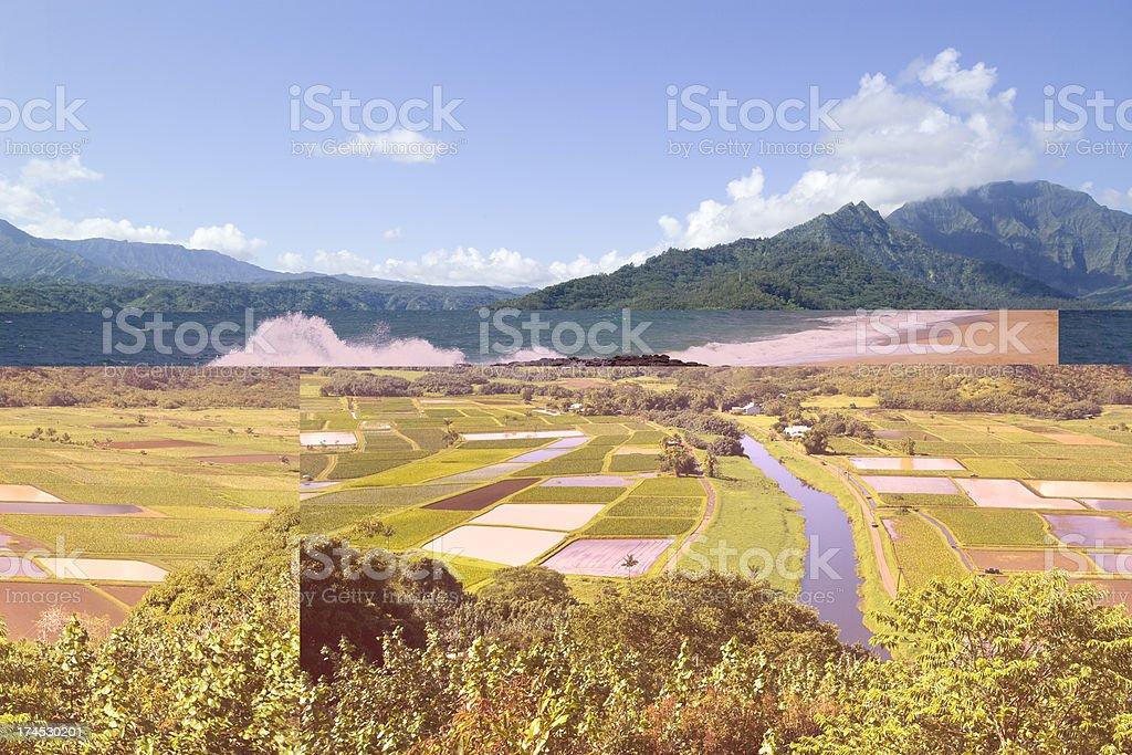 Hanalei Valley Overlook in Kauai, Hawaii stock photo