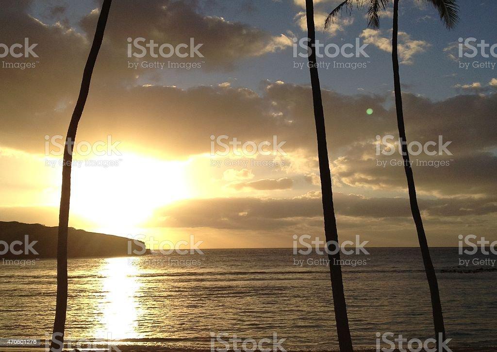 Hanauma Bay at Dawn stock photo