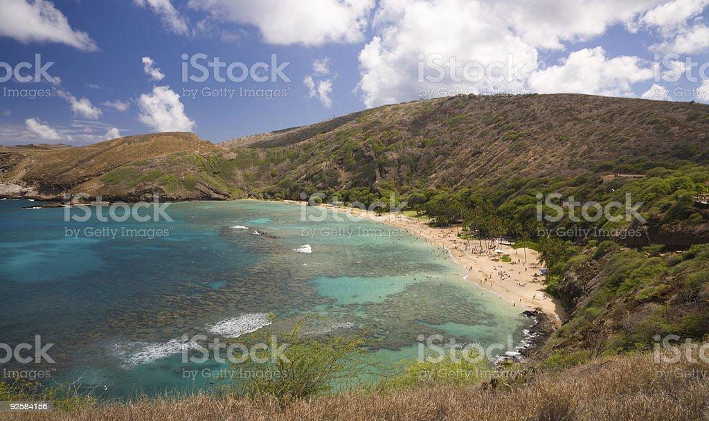 Hanauma Bay, Hawaii royalty-free stock photo