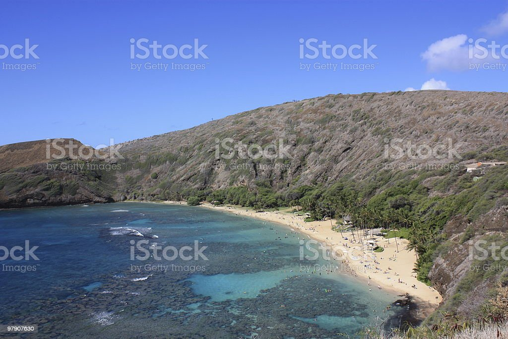 Hanauma Bay, Hawaii royalty-free stock photo