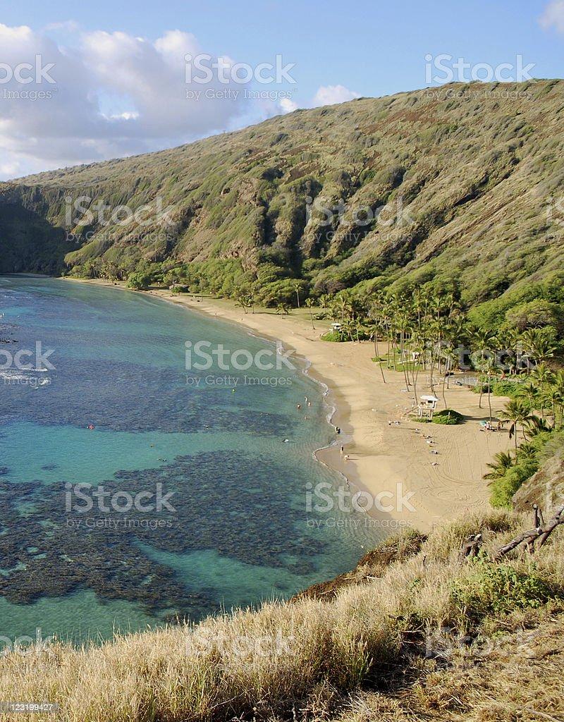 Hanauma Bay Nature Preserve, Hawaii royalty-free stock photo