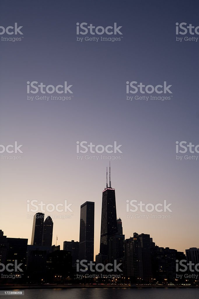 Hancock Building at Dusk royalty-free stock photo
