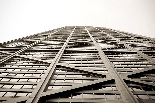 observatorio hancock - edificio hancock chicago fotografías e imágenes de stock