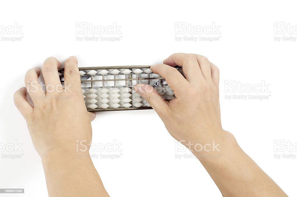 Hand abacus royalty-free stock photo