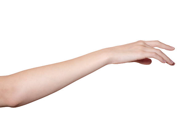 手と腕の白で分離 ストックフォト