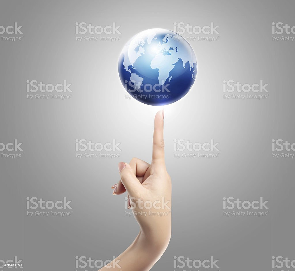 Hand and balance earth royalty-free stock photo