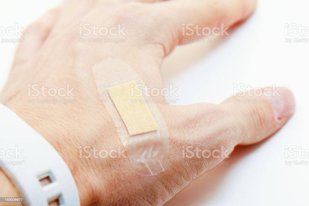 Hand and Bandage royalty-free stock photo