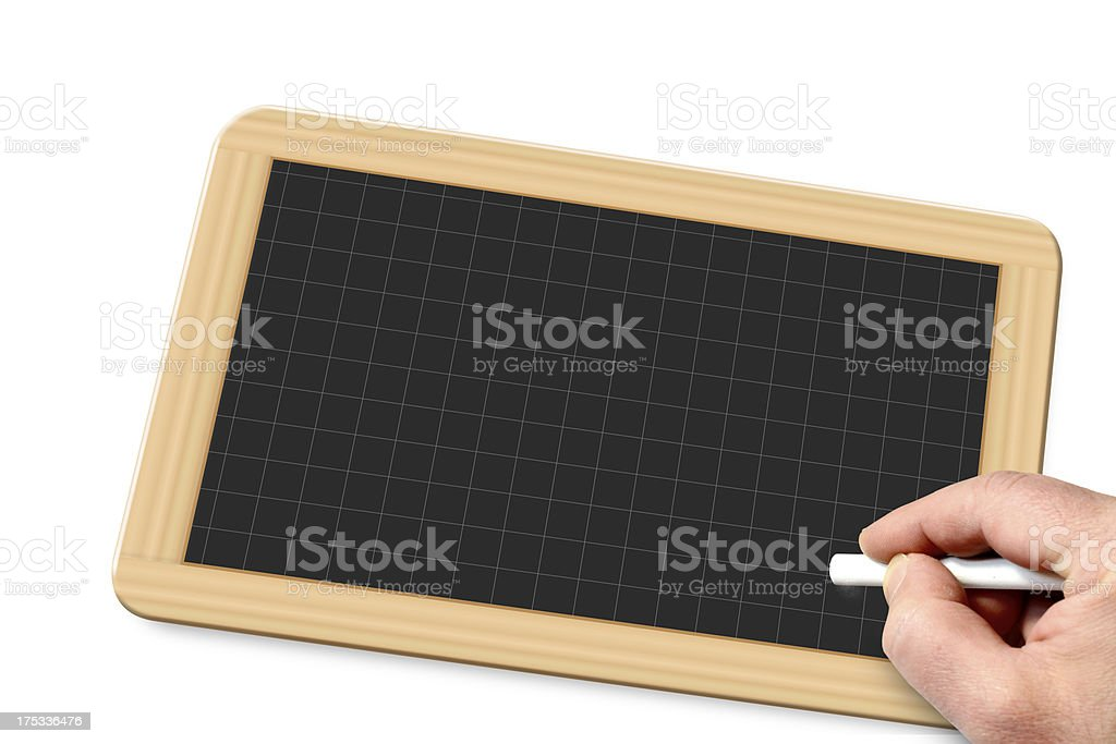 hand and chalk royalty-free stock photo