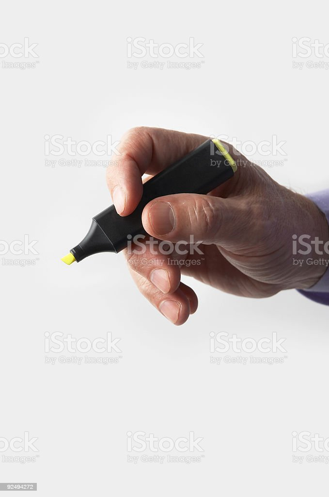 hand and color  marker royalty-free stock photo