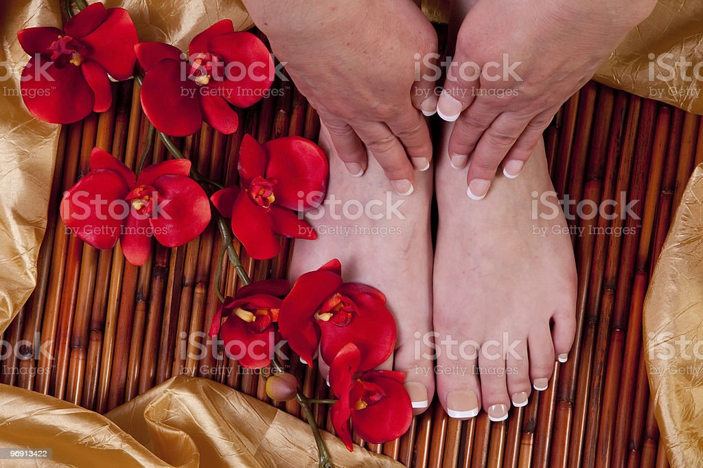 Hand and feet royalty-free stock photo
