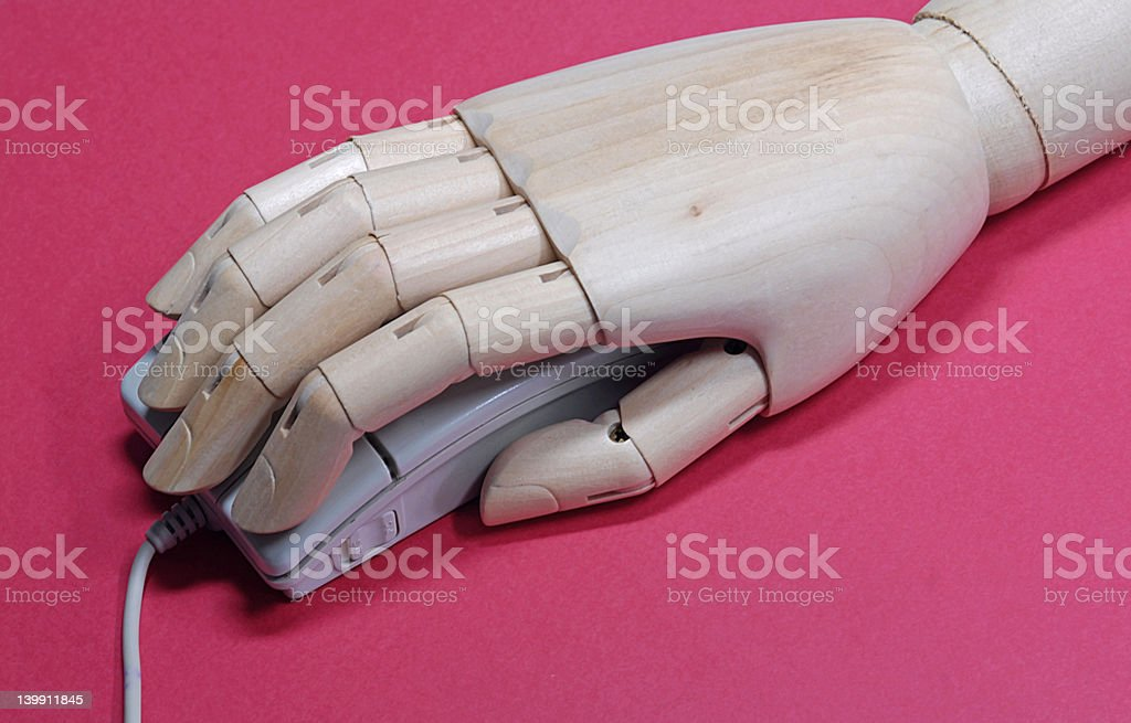Hand and mouse royalty-free stock photo