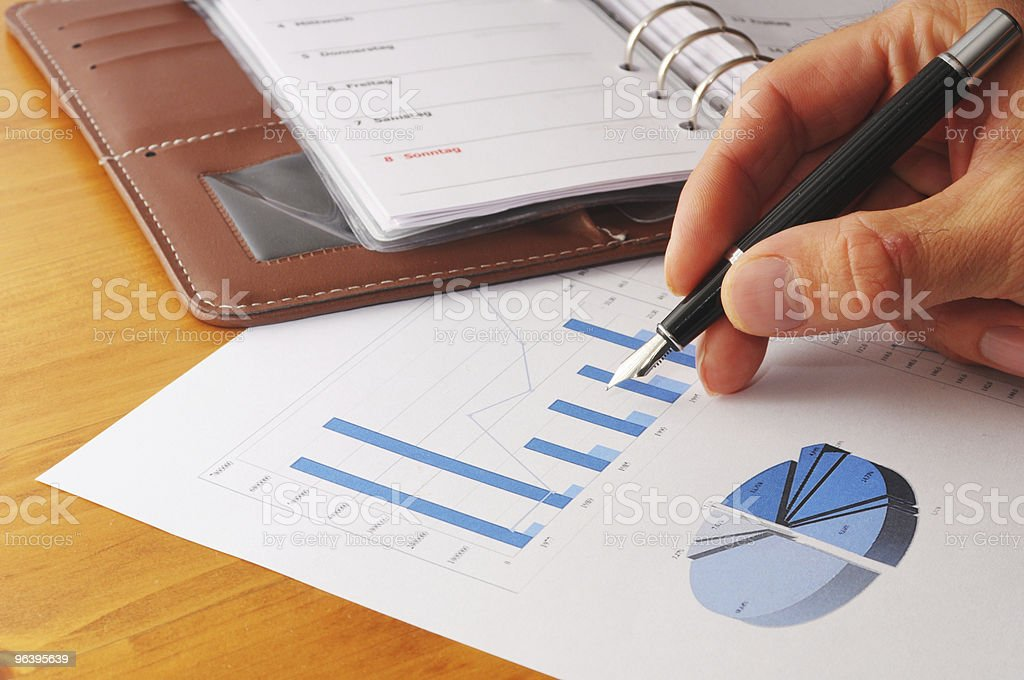 hand and paper work - Royalty-free Business Stock Photo